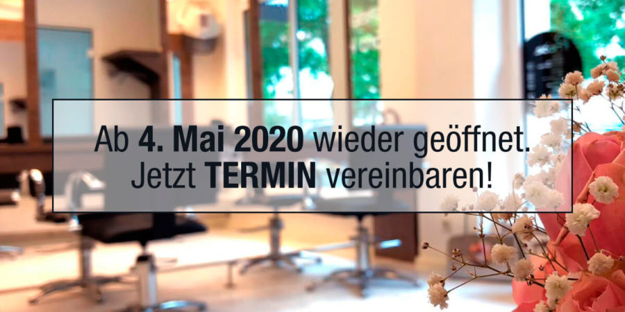 Friseursalons ab 4. Mai 2020 wieder geöffnet