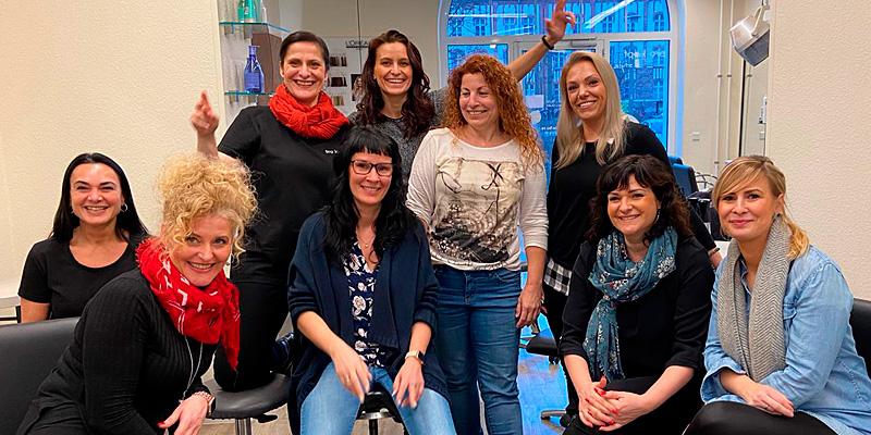 Teamschulung Schnitt mit JeanLuc Paris: Gruppenbild