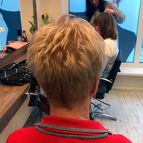 Teamschulung Schnitt: Frisur Best Ager Kurzhaarfrisur
