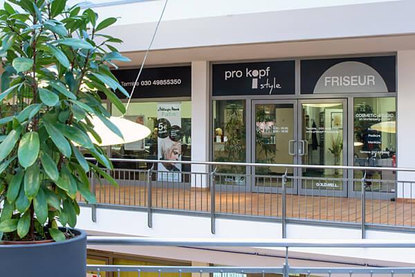 pro kopf style Mühlenberg-Center: Friseursalon aussen. Fotograf: Gerold Rebsch